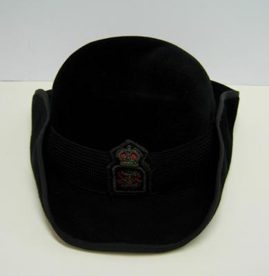 Black felt hat with St Helena embroidered badge [not British Red Cross].