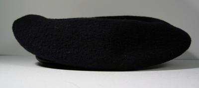 Navy blue felt beret