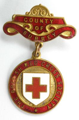 British Red Cross County of Surrey badge