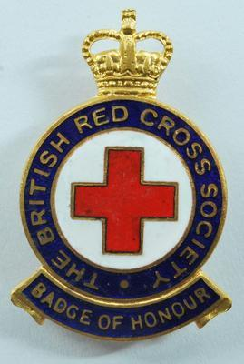 British Red Cross Society Badge of Honour.