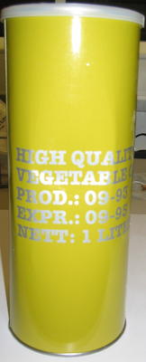 1 tin of vegetable oil