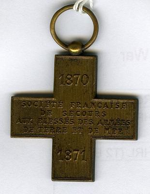 Metal awarded by the Committee of the French Society for Aid to the Sick and Wounded in War