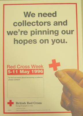 poster advertising Red Cross Week 5-11 May 1996