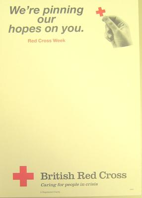 poster advertising Red Cross Week, 1996