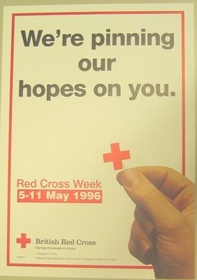 poster advertising Red Cross Week 5-11 May 1996