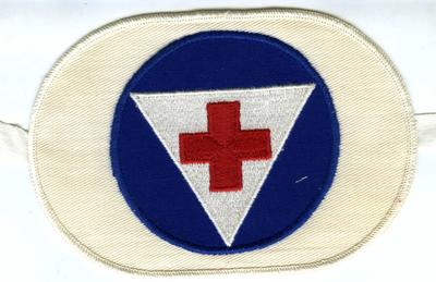 Nurse's aid, civil defence armband.