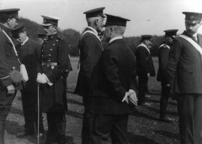 Sudbourne Men's Detachment [Suffolk/13], some in uniform at an inspection at a [field day]
