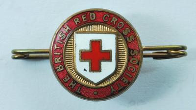 British Red Cross membership brooch on bar
