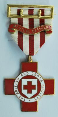 "British Red Cross Medical Officer medal and ribbon with ""Medical Officer"" bar"