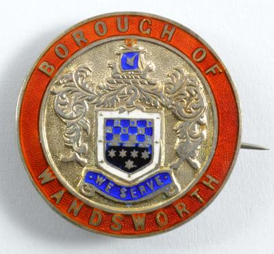 Borough of Wandsworth badge, 1917