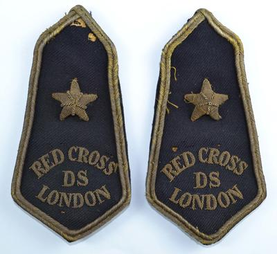 pair of British Red Cross epaulettes