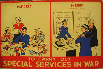 One of a set of Junior Red Cross posters: To Carry Out Special Services in War