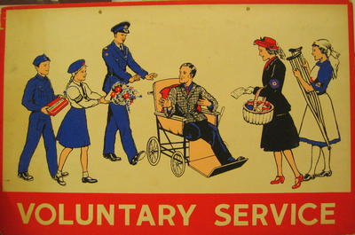 One of a set of Junior Red Cross posters: Voluntary Services.