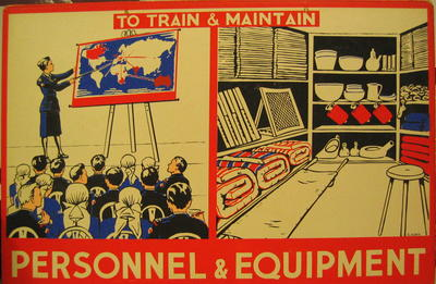 One of a set of Junior Red Cross posters: Personnel and Equipment