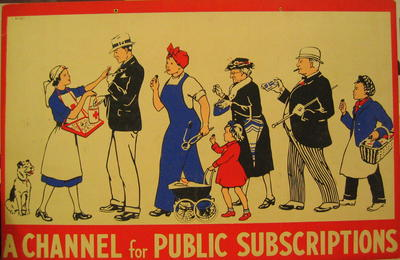 One of a set of Junior Red Cross posters: A Channel for Public Subscriptions