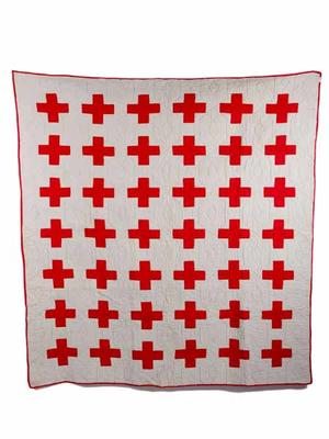Canadian Red Cross quilt; Textiles/quilt; 1708/9