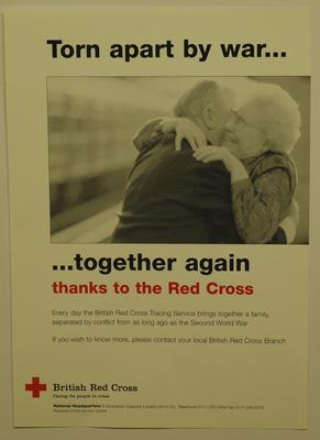 poster advertising the British Red Cross Tracing Service