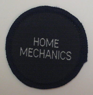 Circular cloth badge: Home Mechanics