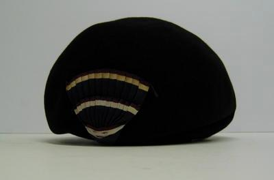 Blue felt beret with cockade