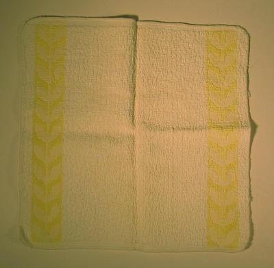 Cream wash flannel with yellow flower decoration