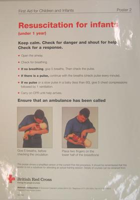 Poster: Poster 1 First Aid for Children and Infants - Resuscitation for infants