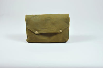 medical kit in khaki pouch