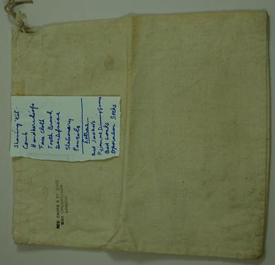 Joint War Organisation comfort bag