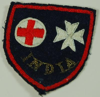 St John and Red Cross Service Hospital Welfare Department Indian Office badge
