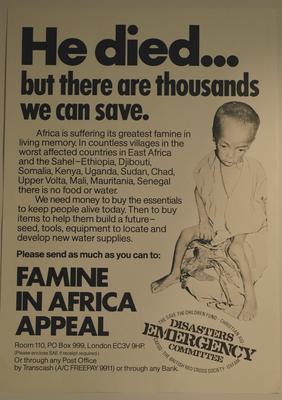 Famine in Africa Appeal DEC: 'He died....but there are thousands we can save'