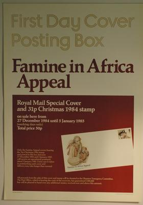 Poster appealing for funds for the Famine in Africa Appeal, 1984
