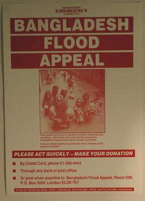 Bangladesh Floods Appeal.; Printed Docs (museum)/poster; 187(52)/3
