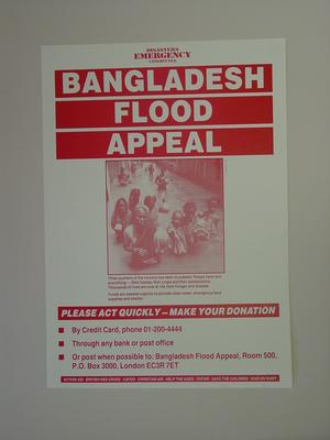 Poster advertising an appeal for the Bangladesh Floods through the DEC