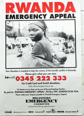 DEC Rwanda Emergency Appeal poster