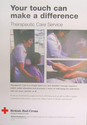 Small colour poster: Therapeutic Care Service.