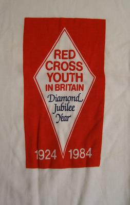 T-shirt celebrating Red Cross Youth in Britain in the Diamond Jubilee Year 1924-1984.