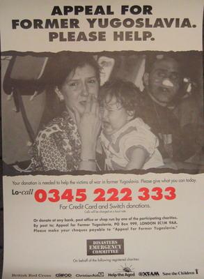 DEC Appeal poster for Former Yugoslavia
