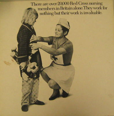 Cardboard poster promoting the work of the British Red Cross nursing members in Britain; Posters/poster; 1907/4(3)