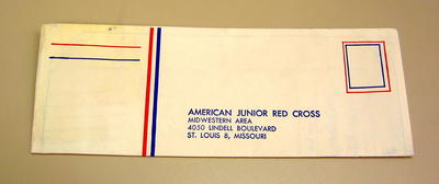 pre-printed letter enclosed within gift box from American Junior Red Cross