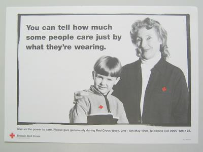 poster advertising Red Cross Week, 2nd-8th May 1999