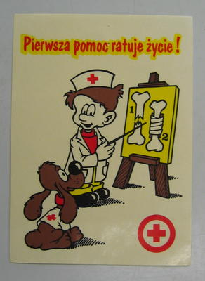 Sticker: Pierwsza pomoc ratuje zycie! [First Aid Saves Lives]
