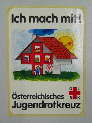 Sticker: Ich mach mit! Osterreichisches. Jugendrotkreuz.