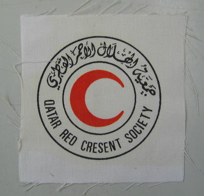 Cloth badge: Qatar Red Crescent Society