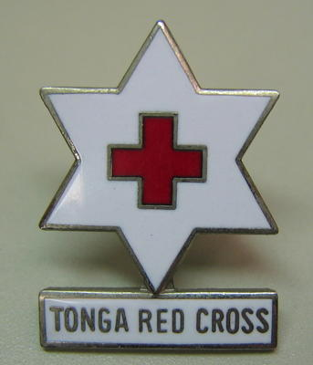 Badge: Tonga Red Cross [back of pin missing]