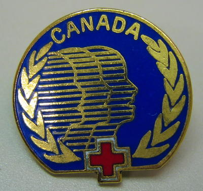 Badge: Canadian Red Cross [back of pin is missing]
