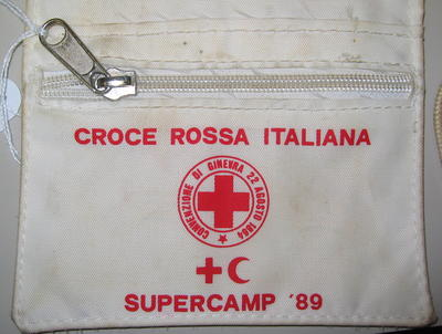 Plastic wallet: Croce Rossa Italiana Supercamp '89.