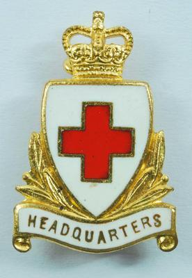 British Red Cross Headquarters collar badges