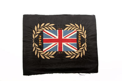 Union Jack embroidery made by convalescing soldiers