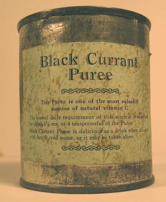 Tin of Black Currant Puree