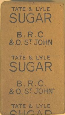 Packet of Tate & Lyle sugar