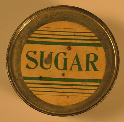 Tin of sugar